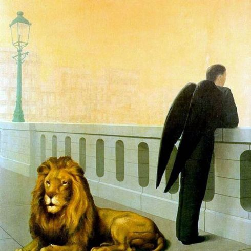 nostalgia_magritte_lion_wings